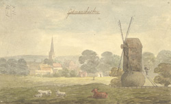 A drawn view of Godmanchester